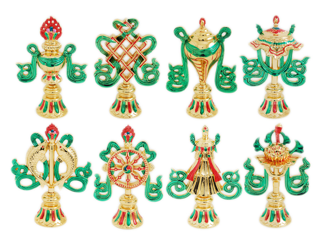8 Auspicious Symbols Gold Plated Set