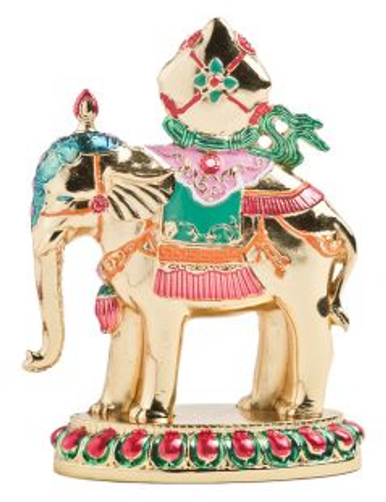 Precious Elephant Enamel Gold Plated