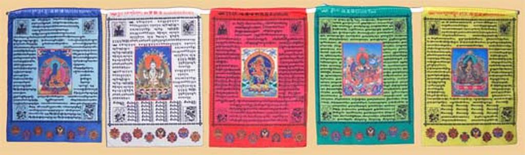 5 Deity Prayer Flag (Large)