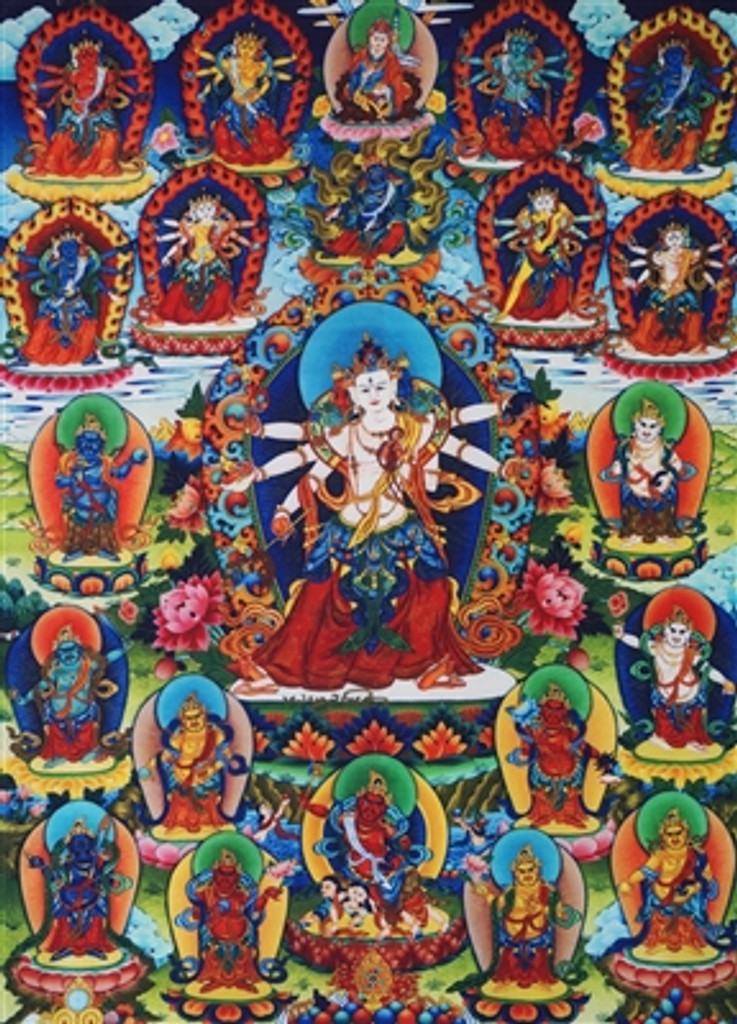21 Zambala Thangka With Brocade