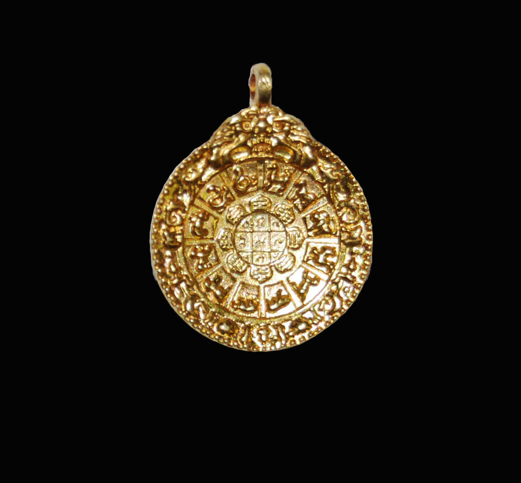 Protection Mandala Brass (gold plated mini)