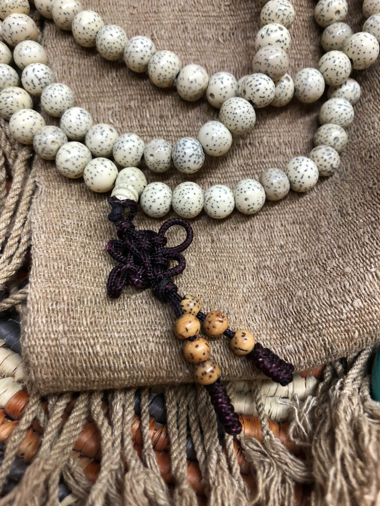 Stars & Moon Bodhi Seed  Mala 108 7-8mm Polished Beads