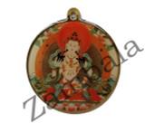 Vajrasattva with Mantra Enamel Pendant