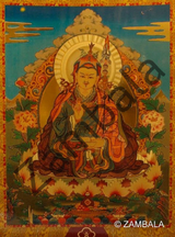 Guru Rinpoche Card Gold
