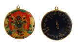 6 Arms Mahakala Pendant with Enamel