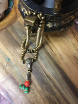 Brass Mala with Carnelian Guru Bead