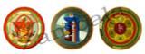 Round 3 pc Gold Sticker (Kurukulle, Kalachakra, Guru Mantra)