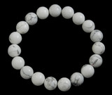 White Howlite Bracelet 10 mm