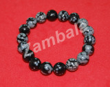 Black Howlite Bracelet 10mm