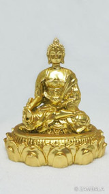 "Medicine Buddha 2"" Gold Plated"