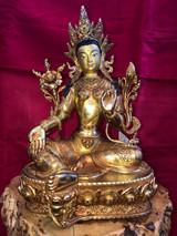 "Green Tara Statue 12"""