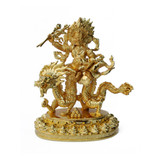 White Zambala Gold Plated Statue - 4 Inches