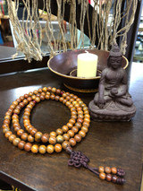 Antique Lotus Seed Mala - 8 mm