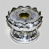 Silver Plated Alloy Lotus Stand