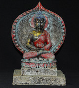 "Amitabha Buddha w/ Parwa 7"" Statue"