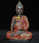 """Antiqued Sakyamuni Buddha 4.5"""" Statue"""
