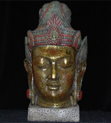 Antiqued Thai Buddha Head