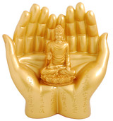 Palm Buddha Polyresin
