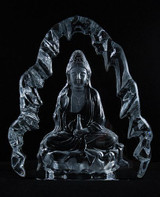 Kuan Yin Carved Crystal Statue