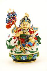Hand Painted Vaishravana / Namtose statue ( 5 Inch )