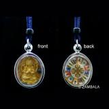 Chenrezig Gold Plated Nectar Tsa Tsa with Mendop Pill Pendant