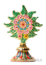 Peaceful Flower Torma Gold Plated