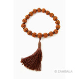 Rudraksha Seed Wrist Mala with Tassel - 18 mm