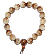 Carved Lotus Bodhi Seed Bracelet-9mm