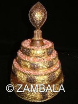 Mandala Partly Gold Platted 5 Inches Base
