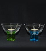 Glass Votive w/ Colored Stem