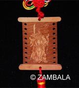 Wooden Banner Deity Charm