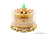 Hand Spun, table Prayer Wheel : Mani/ 8 Auspicious .