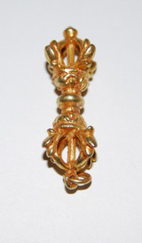 Leaf Dorjee Pendant Gold Colored