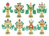 8 Auspicious Symbols Gold Plated Set