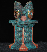 Four Face Buddha on Pedestal