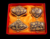 Limoges Style Boxes, 4 Piece Set
