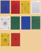 10 Different Buddha Lungta (WInd Horse) Set
