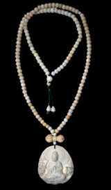 Snow Crystal Kuan Yin Pendant(L)