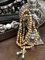 Saga Tree Wood Mala with Accessories 6mm