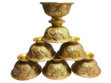 Brass Lotus Offering Bowls 7pcs  Set(S)
