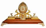 Dharma Wheel (Enamel) with Two Deers