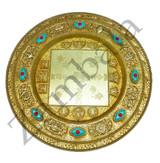 Brass Mandala with Stand 17cm