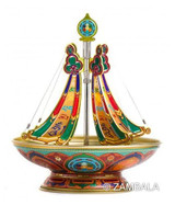 Pacifying ( Chenrezi )24 Hr Mandala Incense Burner