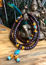 Drum Shape Rosewood Mala