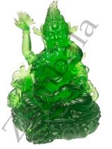 Green Zambala ( liuli lazurite 11 cm ht)