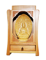 Hand Carved Kwan Yin Statue for Altar