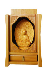 Hand Carved Amitabha Statue for Altar