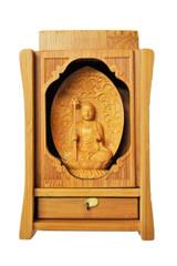 Hand Carved Kshitigarbha Statue for Altar