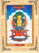 Maitreya Buddha with Foldable Cardboard Frame