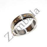 Yellow Zambala Mantra Ring